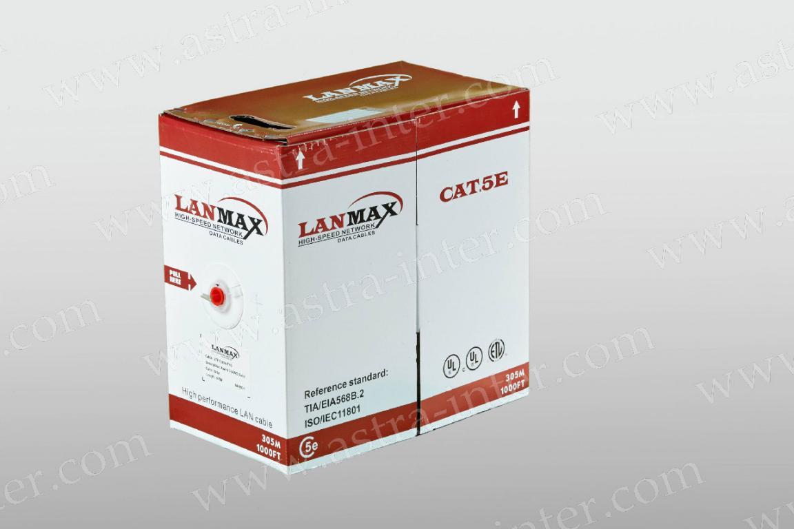 Кабель UTP 4х2х0.5 в/пара 5е категории 305м LANMAX®