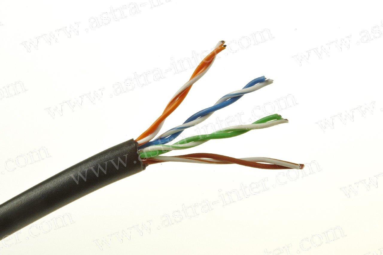 Кабель FTP 4х2 24AWG+экран 305м Кат.5e наружная IT CONNECT