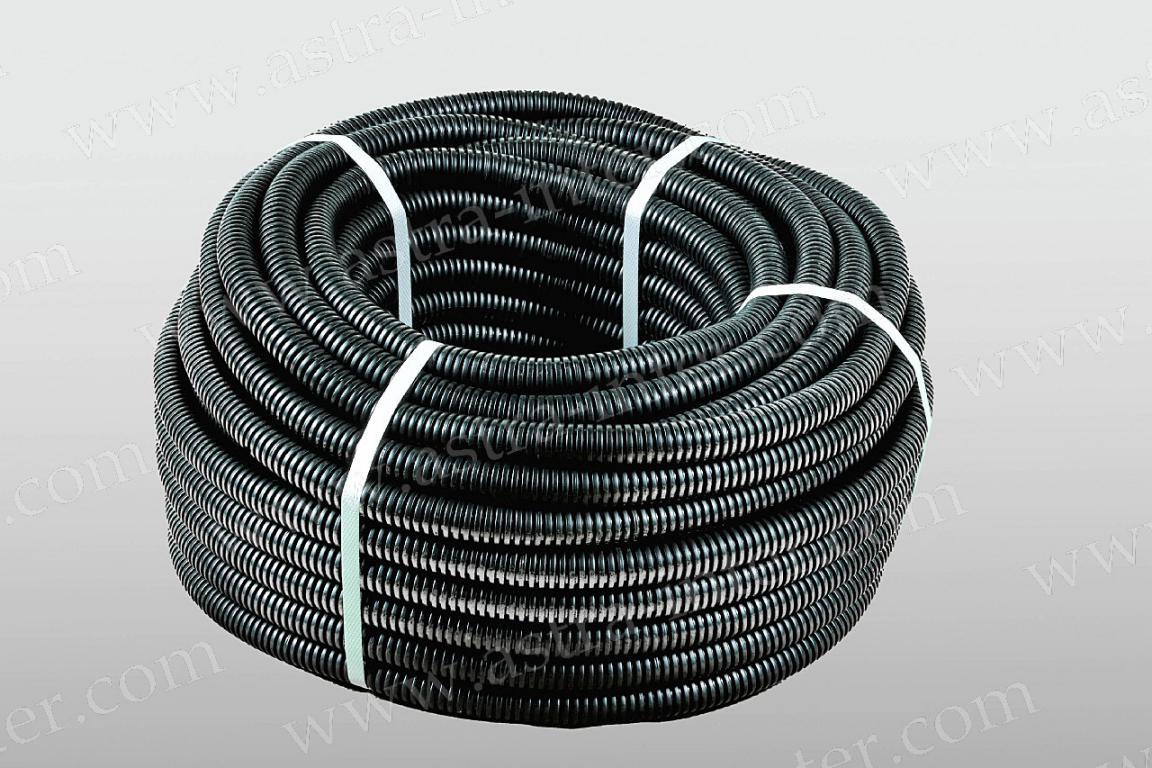 Гофротруба ПНД 16мм с зондом  (100м бухта) черная