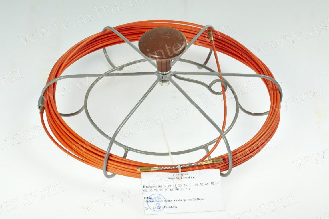 Мини-УЗК стеклопруток D=3,5mm 15м. в кассете