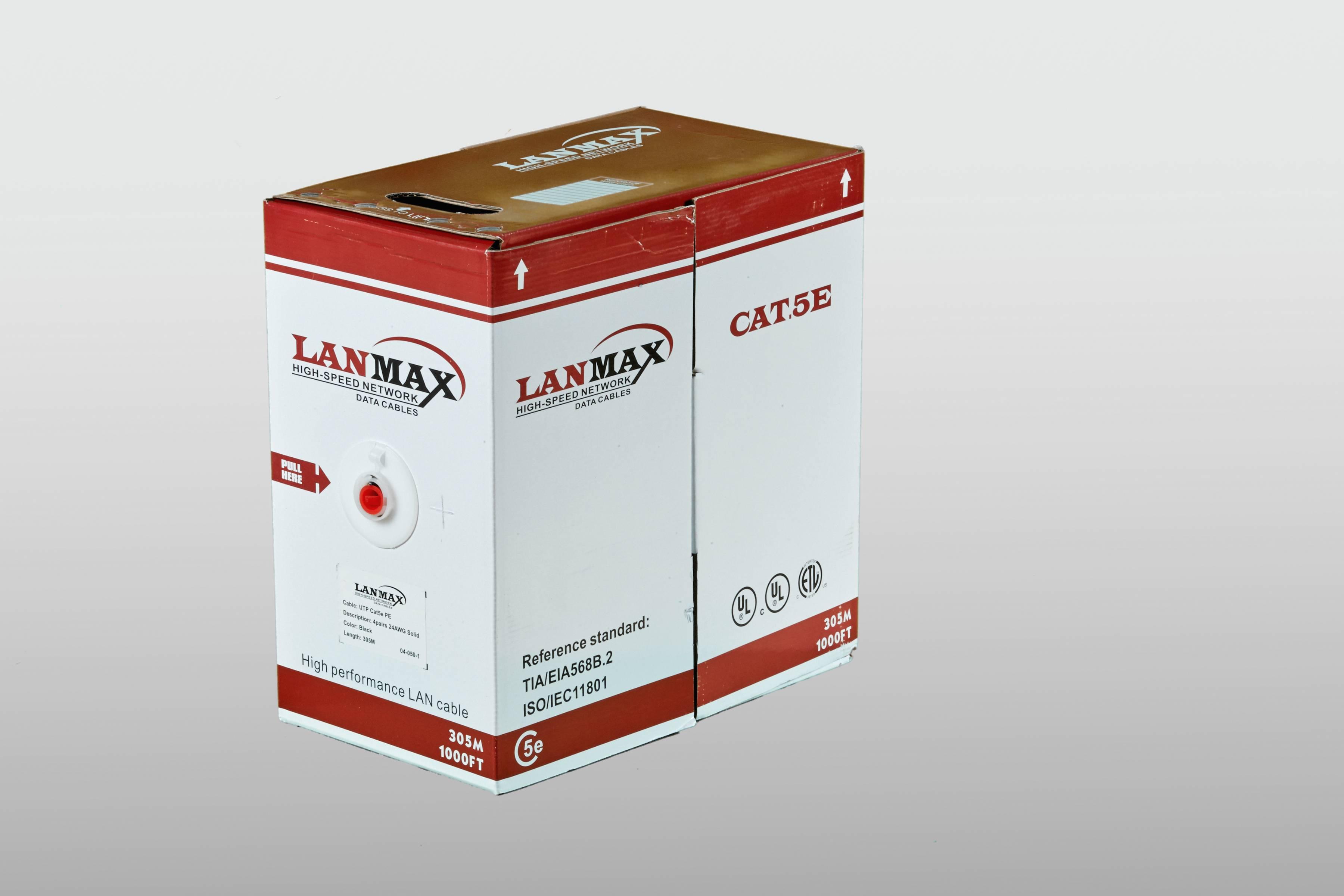 Кабель UTP 4х2х0.5 в/пара 5е категории 305м LSZH наружный LANMAX®