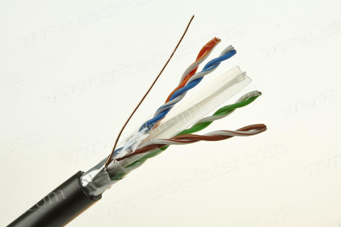 Кабель FTP 4x2x0.57 экран 305м наружная LANMAX® КАТ.6