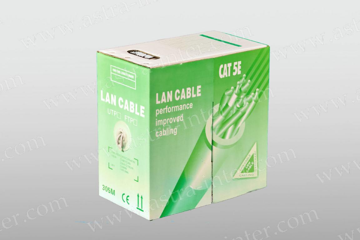 Кабель UTP 4х2 24AWG в/пара 5 категории ССА LANCABLE light