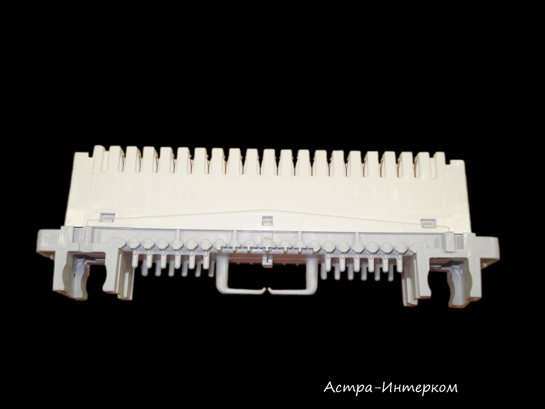 LSA-PROFIL Плинт с нормально замкнутыми контактами 2/6х3, с маркировкой