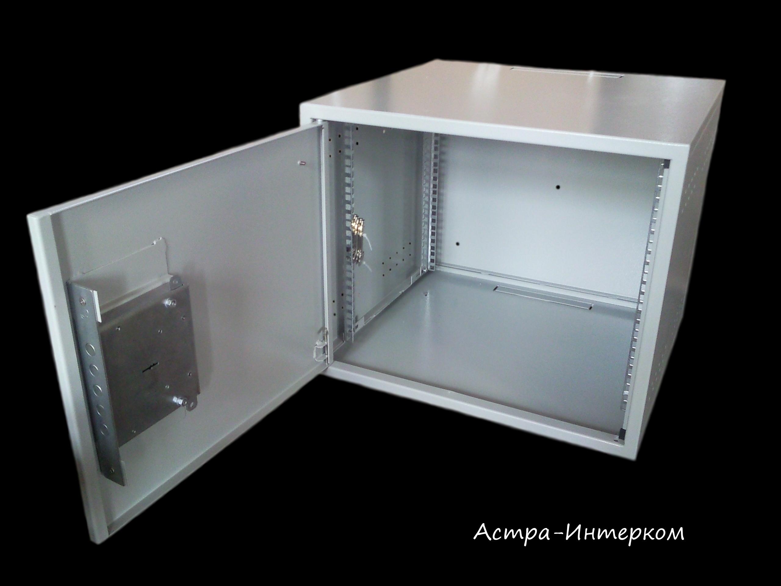 Ящик антивандальный 9U (ригельный замок) 530Х500