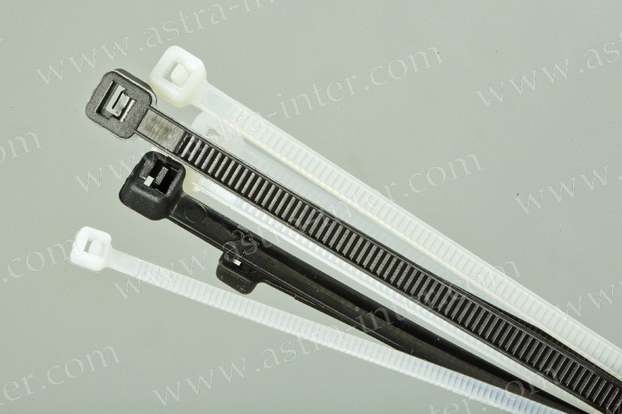 Хомут-стяжка кабельная 200х4мм (бел.) (уп.100 шт.)