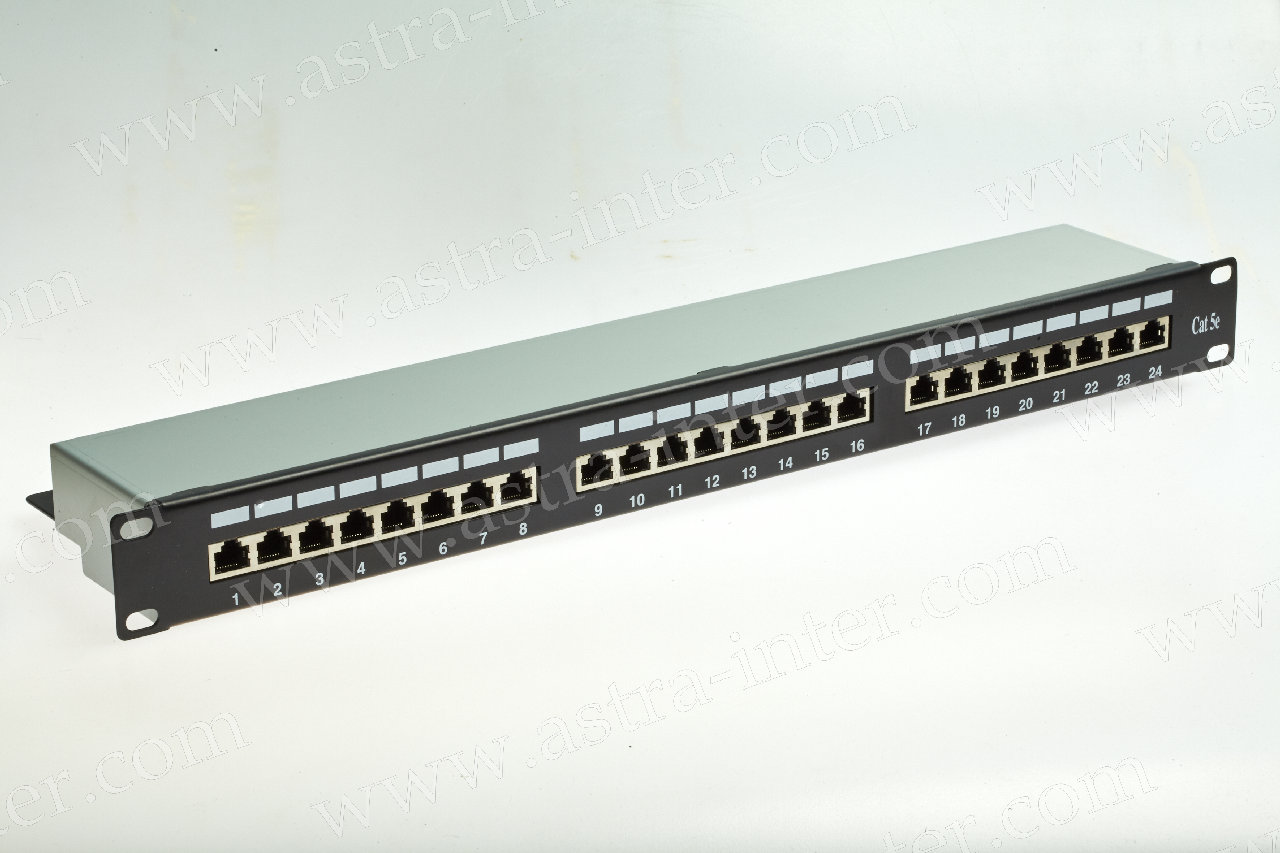 Патч-панель 24 порта RJ-45, кат.5, FTP (19