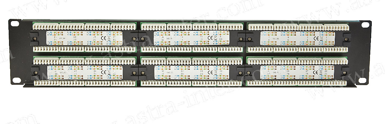 Патч-панель 48 портов RJ-45, кат.5е, тип KRONE (19