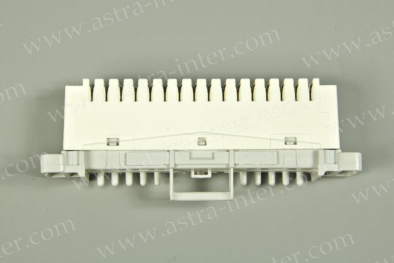 LSA-PROFIL Плинт с нормально замкнутыми контактами 2/8 , кабельная сторона сверху, без цветокода, маркировка 0…7
