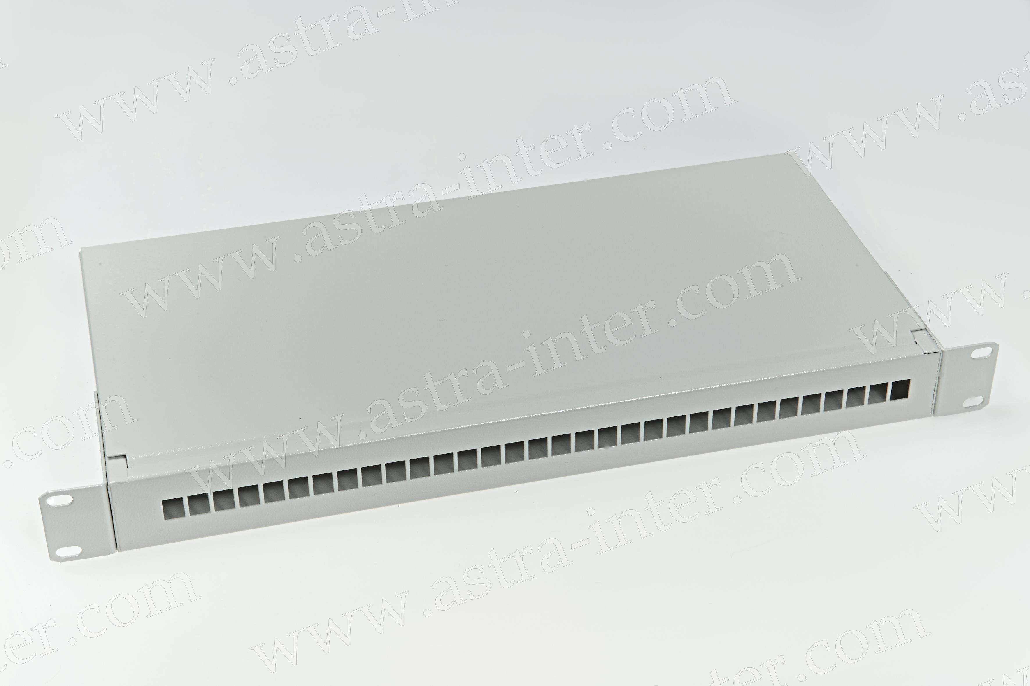 Корпус кросса эконом 1U-SC/FC (до 32 портов) с лицевой панелью