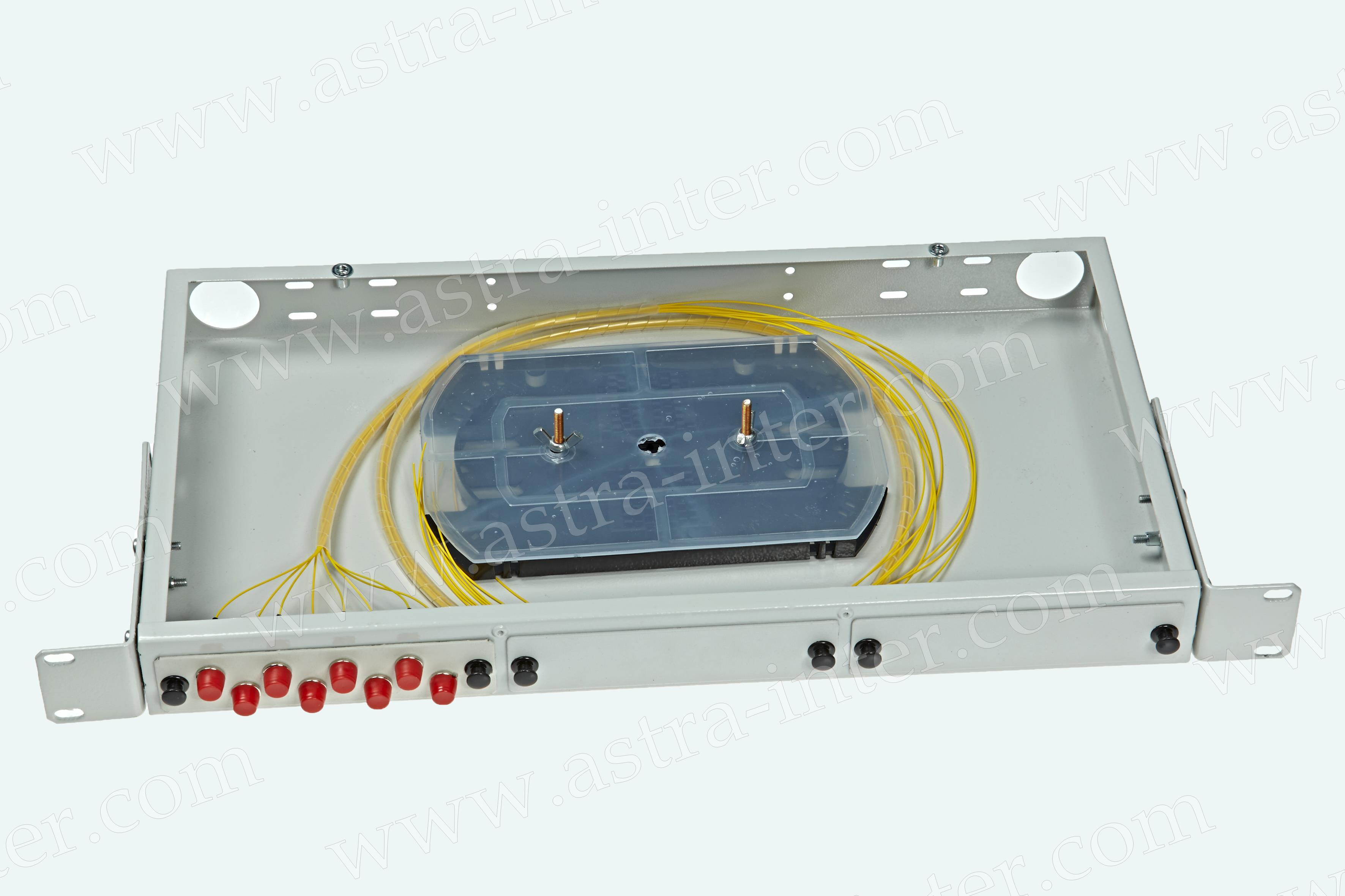 Оптический кросс в стойку R8-1U-FC-8