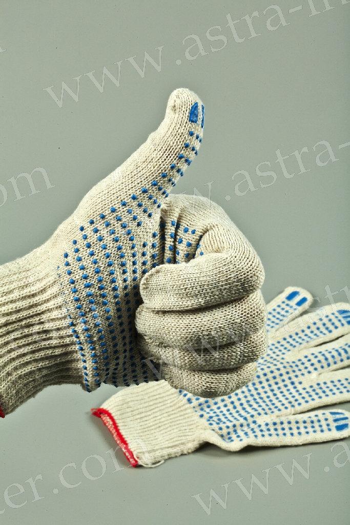 Перчатки ХБ + ПВХ (5 ниток) класс 10