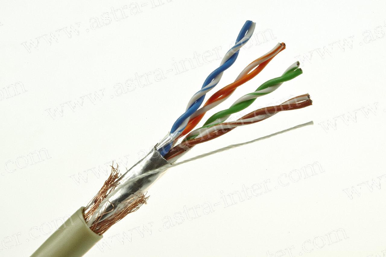 Кабель SFTP 4х2х0.53 + 2 экрана 305м Кат.5e LANMAX®