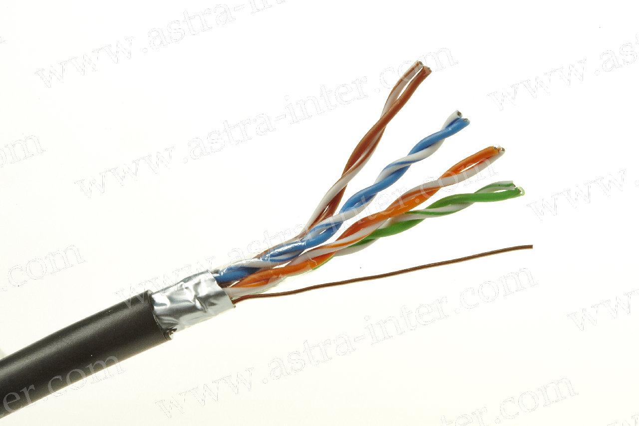 Кабель FTP 4х2х0.5 + экран 305м Кат.5e наружная LANMAX®