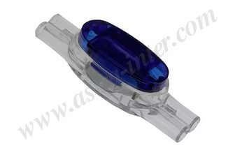U1-B Скотчлок соединитель, жила 0.9-1.3 мм, изол. до 3,18 мм, прозрачн., синий