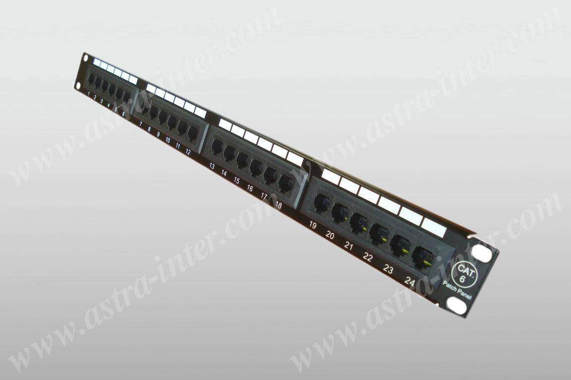 Патч-панель 24 порта RJ-45, кат.6, тип 110 (19